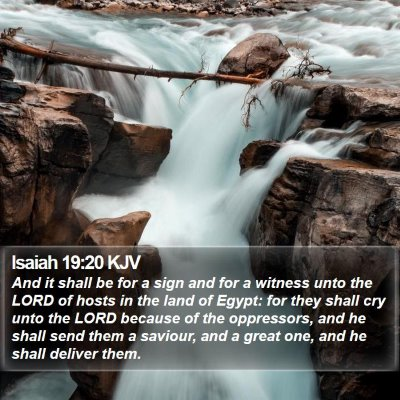Isaiah 19:20 KJV Bible Verse Image