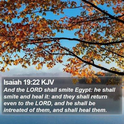 Isaiah 19:22 KJV Bible Verse Image