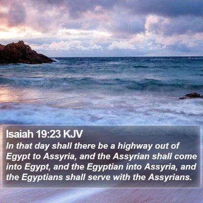 Isaiah 19:23 KJV Bible Verse Image