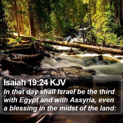 Isaiah 19:24 KJV Bible Verse Image