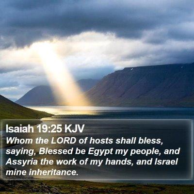 Isaiah 19:25 KJV Bible Verse Image