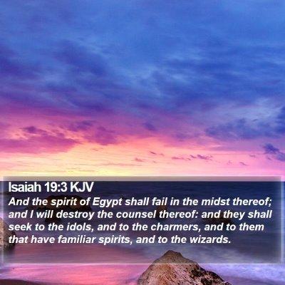 Isaiah 19:3 KJV Bible Verse Image
