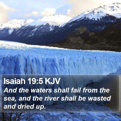 Isaiah 19:5 KJV Bible Verse Image
