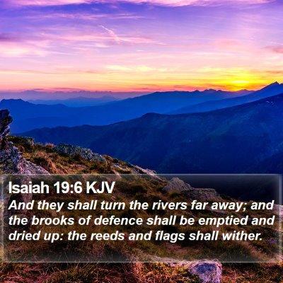 Isaiah 19:6 KJV Bible Verse Image