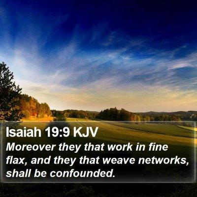 Isaiah 19:9 KJV Bible Verse Image