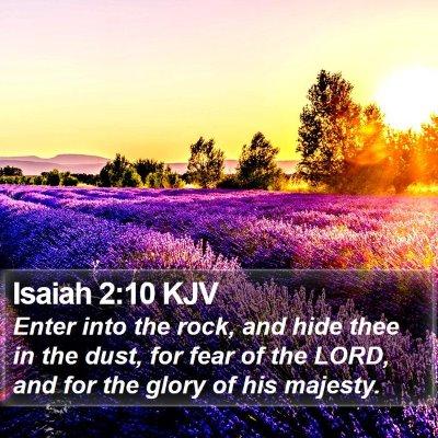 Isaiah 2:10 KJV Bible Verse Image