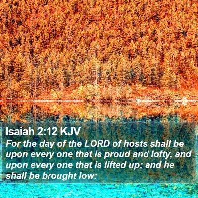 Isaiah 2:12 KJV Bible Verse Image