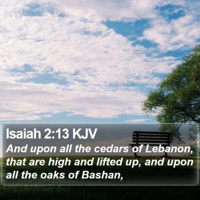 Isaiah 2:13 KJV Bible Verse Image