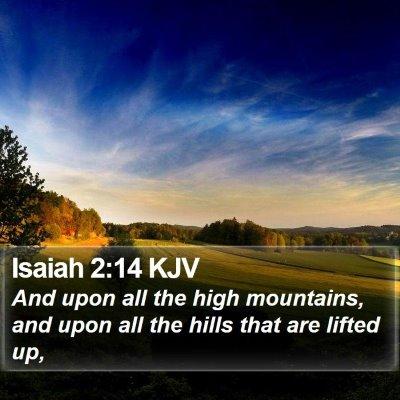 Isaiah 2:14 KJV Bible Verse Image