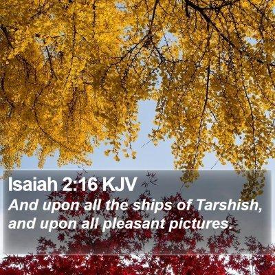 Isaiah 2:16 KJV Bible Verse Image