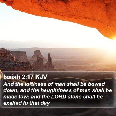 Isaiah 2:17 KJV Bible Verse Image
