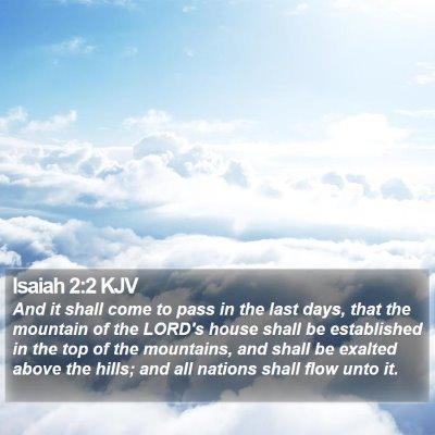 Isaiah 2:2 KJV Bible Verse Image
