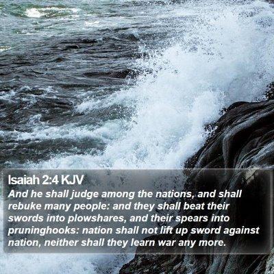 Isaiah 2:4 KJV Bible Verse Image