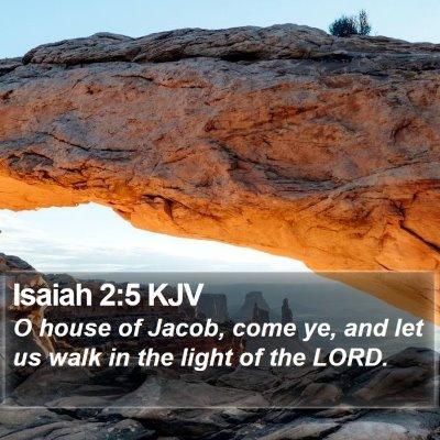 Isaiah 2:5 KJV Bible Verse Image