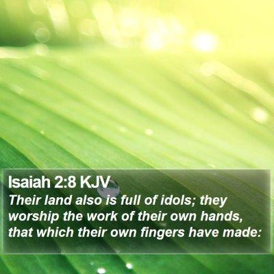 Isaiah 2:8 KJV Bible Verse Image