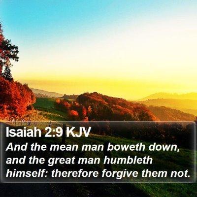 Isaiah 2:9 KJV Bible Verse Image
