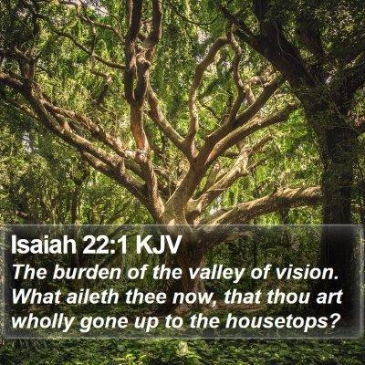 Isaiah 22:1 KJV Bible Verse Image