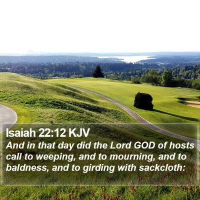 Isaiah 22:12 KJV Bible Verse Image