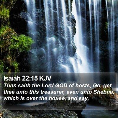 Isaiah 22:15 KJV Bible Verse Image