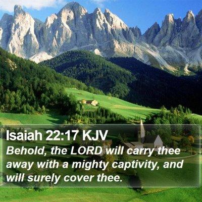 Isaiah 22:17 KJV Bible Verse Image