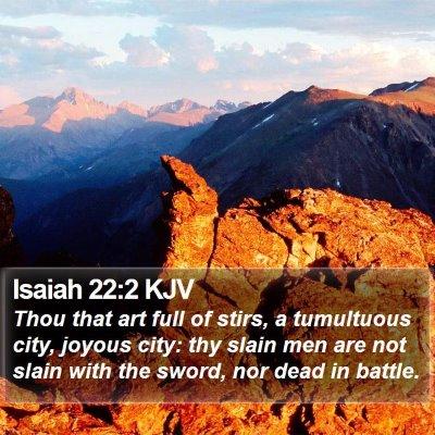 Isaiah 22:2 KJV Bible Verse Image