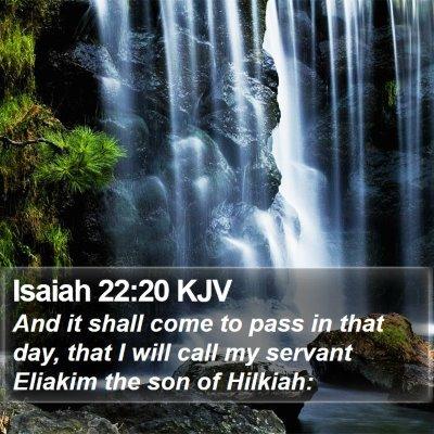 Isaiah 22:20 KJV Bible Verse Image