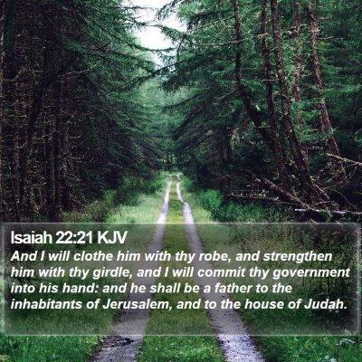 Isaiah 22:21 KJV Bible Verse Image