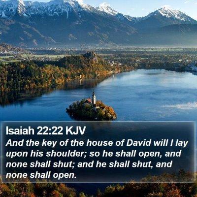 Isaiah 22:22 KJV Bible Verse Image