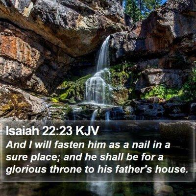 Isaiah 22:23 KJV Bible Verse Image