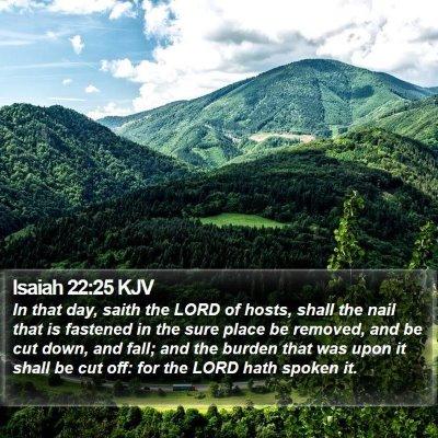 Isaiah 22:25 KJV Bible Verse Image