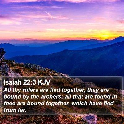Isaiah 22:3 KJV Bible Verse Image