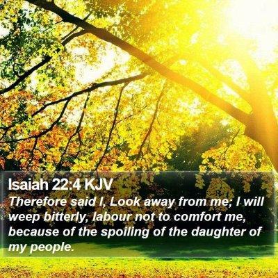 Isaiah 22:4 KJV Bible Verse Image