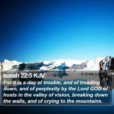 Isaiah 22:5 KJV Bible Verse Image