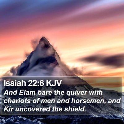Isaiah 22:6 KJV Bible Verse Image