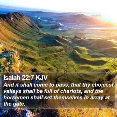 Isaiah 22:7 KJV Bible Verse Image