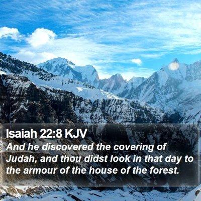 Isaiah 22:8 KJV Bible Verse Image