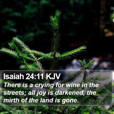 Isaiah 24:11 KJV Bible Verse Image
