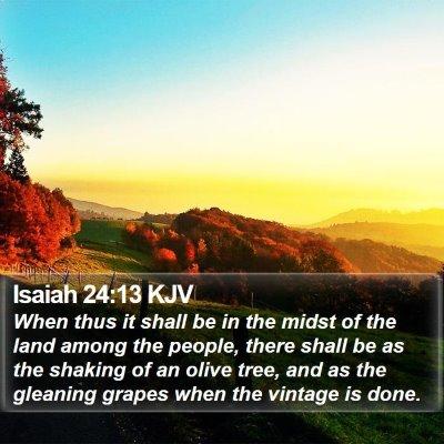 Isaiah 24:13 KJV Bible Verse Image