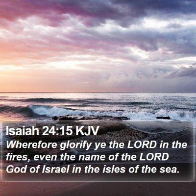 Isaiah 24:15 KJV Bible Verse Image