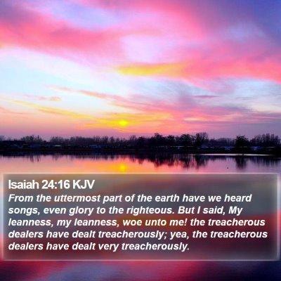 Isaiah 24:16 KJV Bible Verse Image