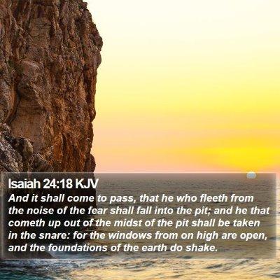 Isaiah 24:18 KJV Bible Verse Image
