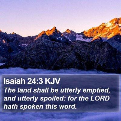 Isaiah 24:3 KJV Bible Verse Image