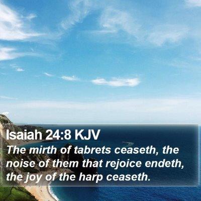Isaiah 24:8 KJV Bible Verse Image