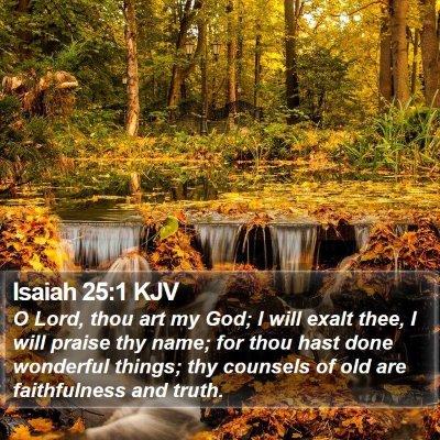 Isaiah 25:1 KJV Bible Verse Image