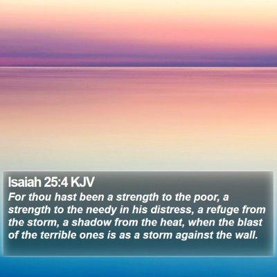 Isaiah 25:4 KJV Bible Verse Image