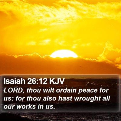 Isaiah 26:12 KJV Bible Verse Image