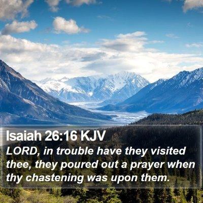 Isaiah 26:16 KJV Bible Verse Image