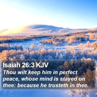 Isaiah 26:3 KJV Bible Verse Image