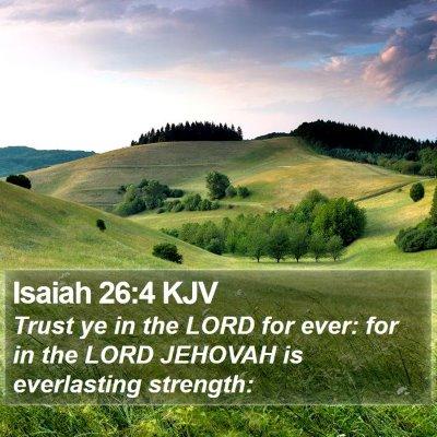 Isaiah 26:4 KJV Bible Verse Image