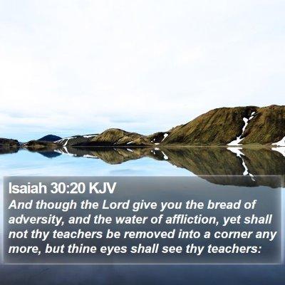 Isaiah 30:20 KJV Bible Verse Image